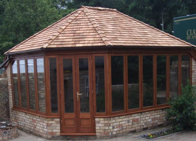 Summer House with cedar shingle roof